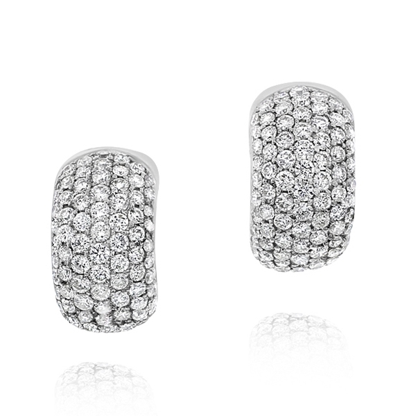 Diamond Huggie Earrings photo