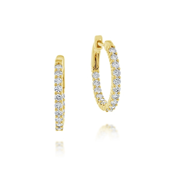 Diamond Inside-Outside Hoop Earrings photo
