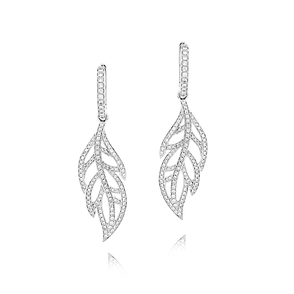 Diamond Leaf Earrings photo