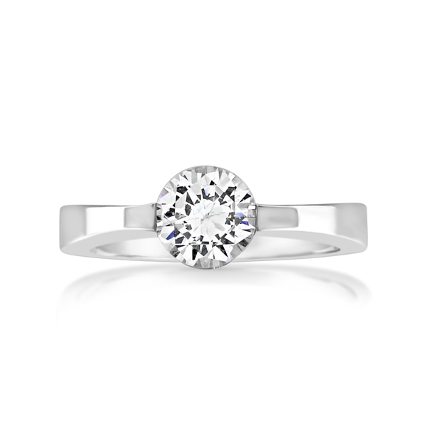 Diamond Solitaire Engagement Ring photo