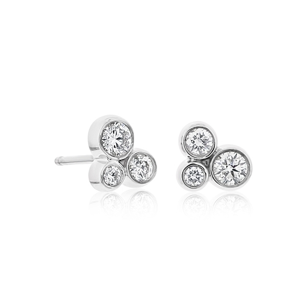 Diamond Trio Stud Earrings photo