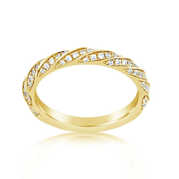 Diamond Twist Wedding Band photo
