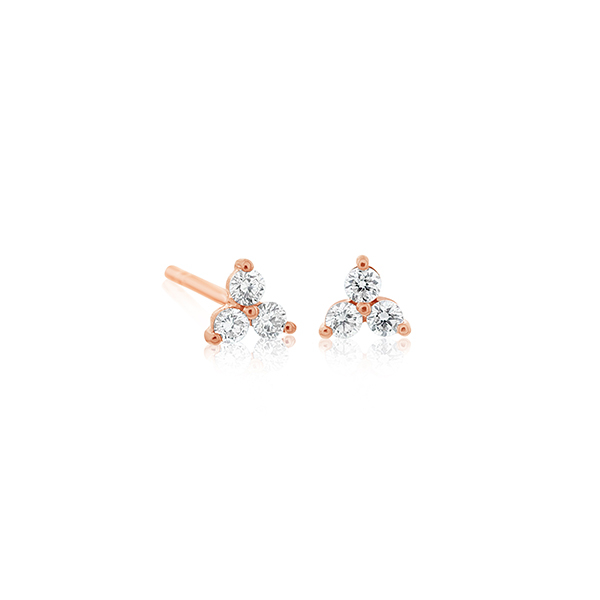 EF COLLECTION Diamond Trio Earrings photo