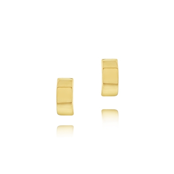 EF COLLECTION Gold Huggie Earrings photo