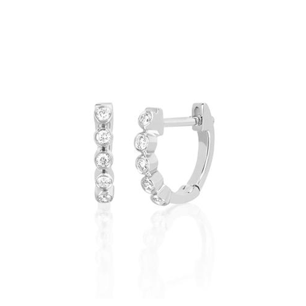 EF COLLECTION Mini Diamond Hoops photo