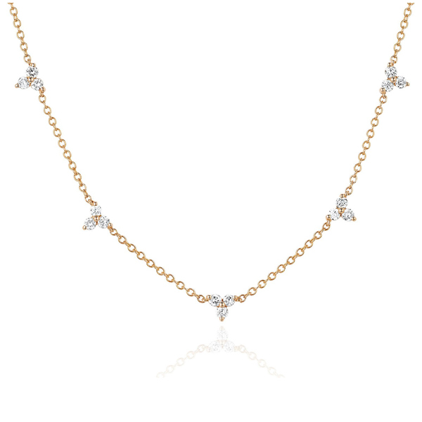 EF COLLECTION Trio Station Diamond Necklace photo