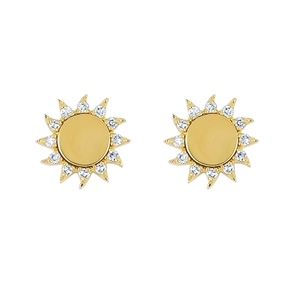 EF COLLECTION You Are My Sunshine Diamond Stud Earrings photo