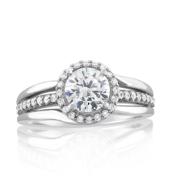 Embrace Collection Round Halo Diamond Ring photo