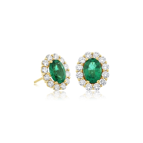 Emerald & Diamond Earrings photo