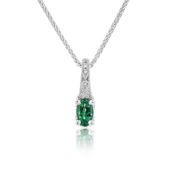 Emerald & Diamond Pendant photo