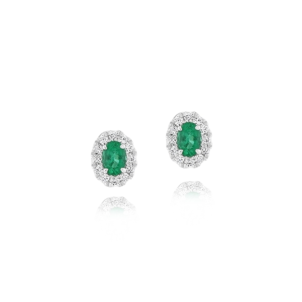 Emerald & Diamond Studs photo