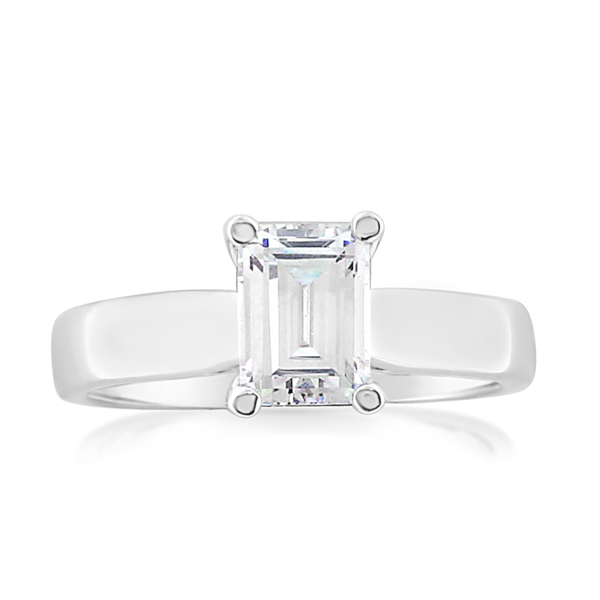 Emerald Cut Solitaire Engagement Ring photo