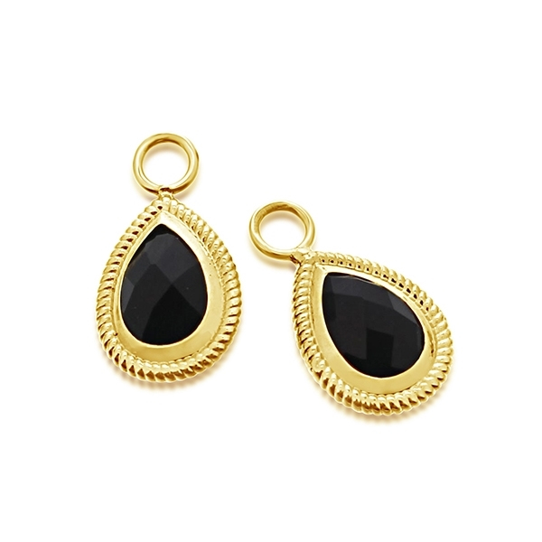 Estate Black Onyx Earring Charms photo