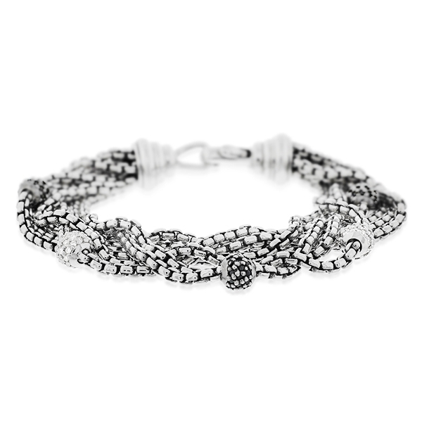 Estate David Yurman Eight Row Diamond Bracelet photo
