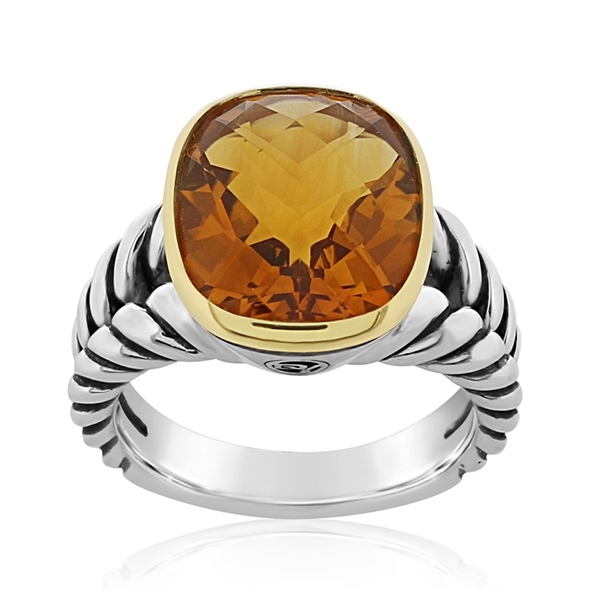 Estate David Yurman Noblesse Citrine Ring photo