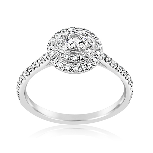 Estate Diamond 'Soleste' Double Halo Ring photo