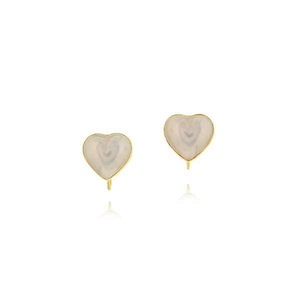 Estate Heart Shaped Pearl Earrings photo
