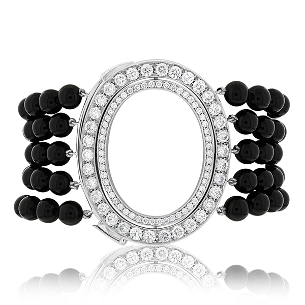 Estate Ivanka Trump Black Onyx & Diamond Brracelet photo