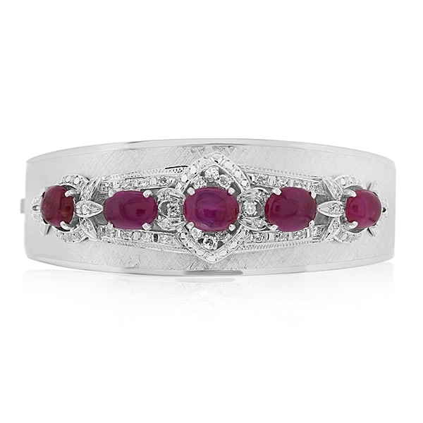 Estate Ruby & Diamond Bangle photo