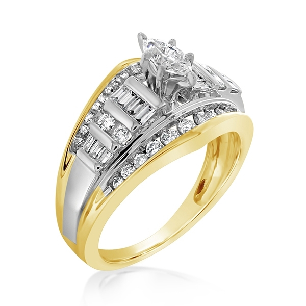 Estate Three Row Diamond Ring photo