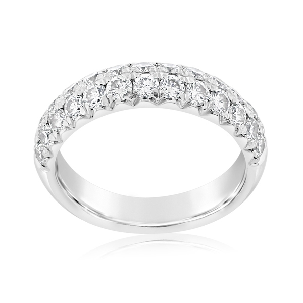 Estate Two Row Diamond Band photo