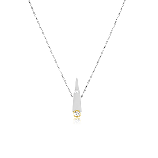 Estate Two-Tone Cone Necklace photo