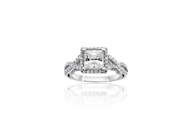 Estate Verragio Diamond Engagement Ring photo