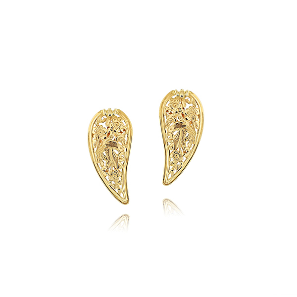 Estate Wing Clip On Earrings photo