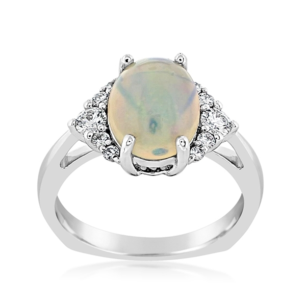 Ethiopian Opal & Diamond Ring photo