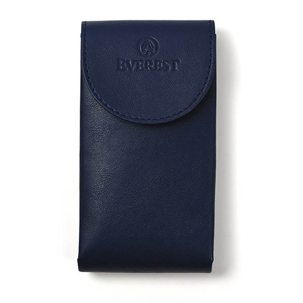 EVEREST HOROLOGY Blue Leather Watch Pouch photo