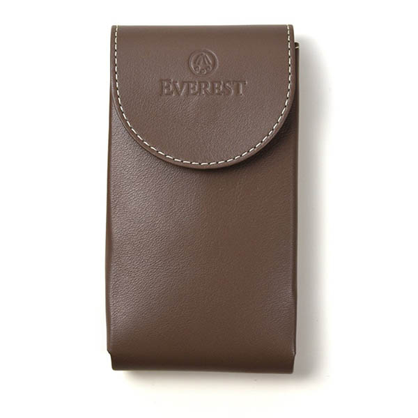 EVEREST HOROLOGY Taupe Leather Watch Pouch photo