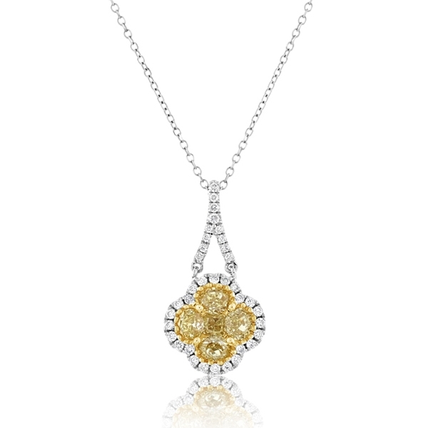 Fancy Yellow Diamond Fashion Necklace photo