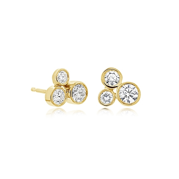 FOREVERMARK Tribute Diamond Trio Stud Earrings photo