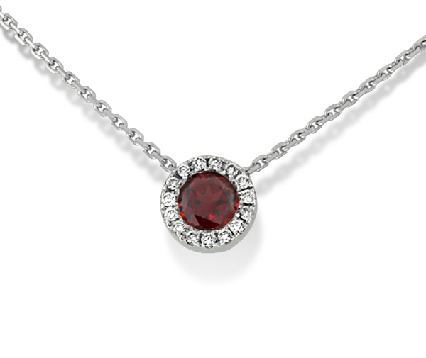 Garnet and Diamond Pendant photo