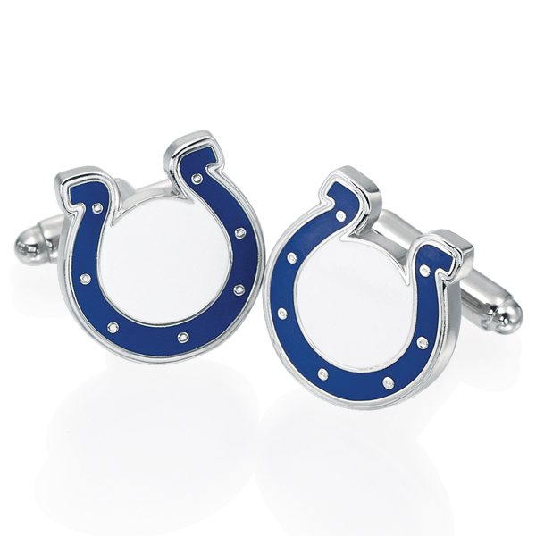 GO BLUE Horseshoe Cufflinks photo