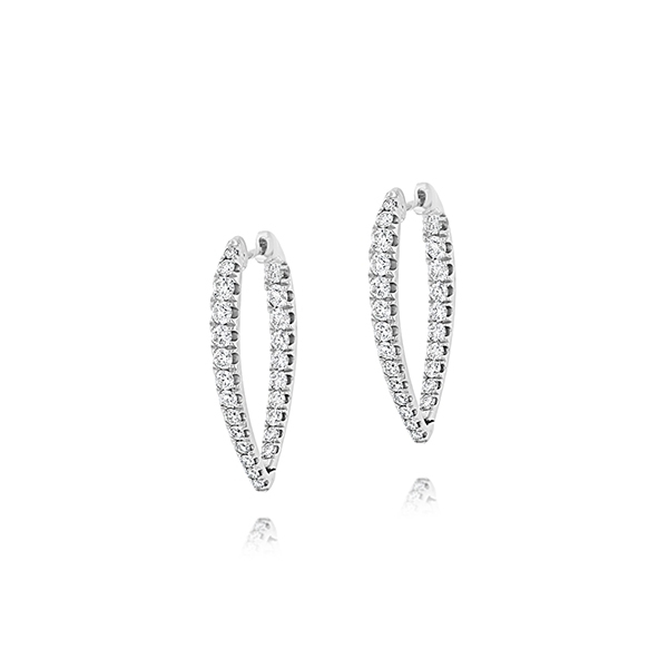 Graduated Diamond Pointed Hoops photo