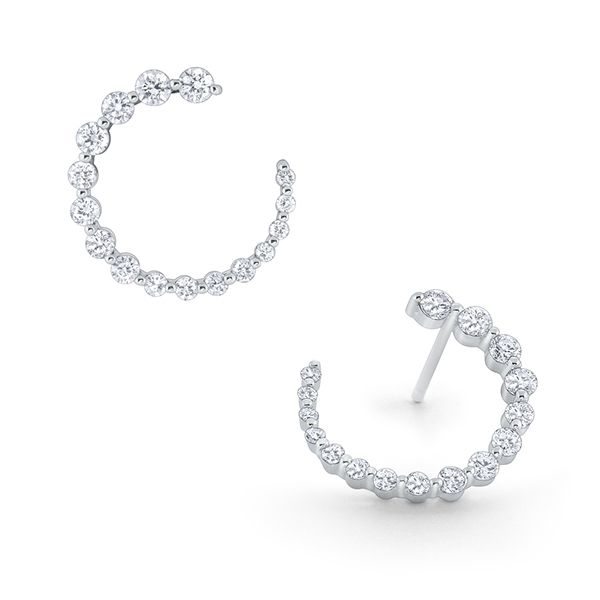 Graduated Diamond Spiral Earrings photo