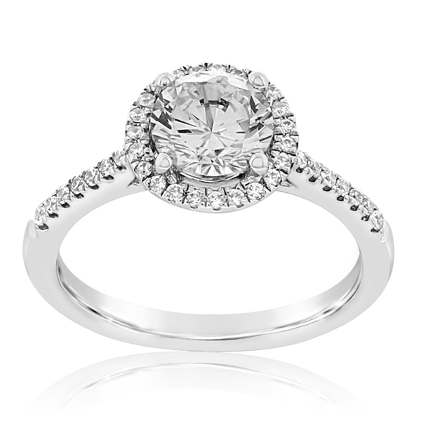 Halo Diamond Engagement Ring  photo