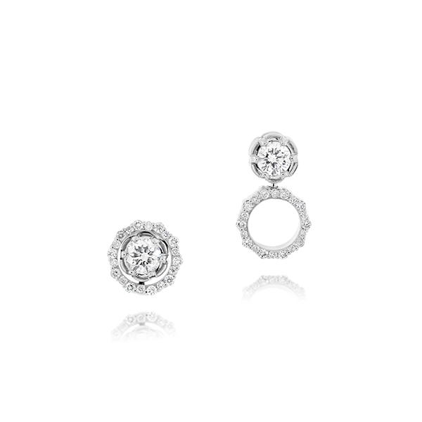 Halo Pirouette Diamond Earrings photo