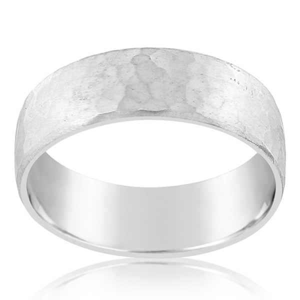 Hammered Wedding Band photo