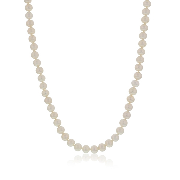 Handtied Pearl Necklace photo