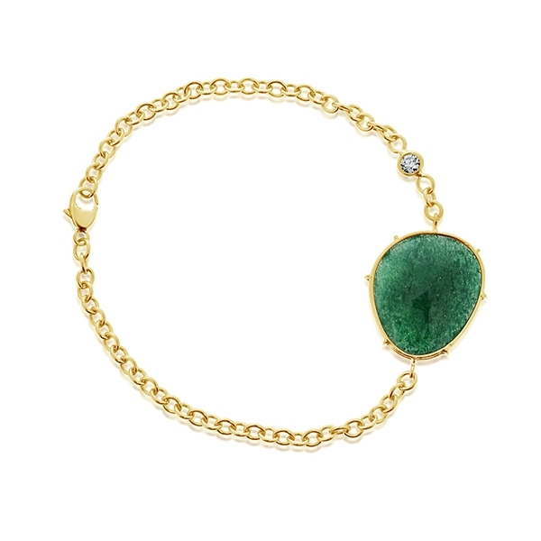 HEATHER B MOORE Harriet Adventurine & Diamond Bracelet photo