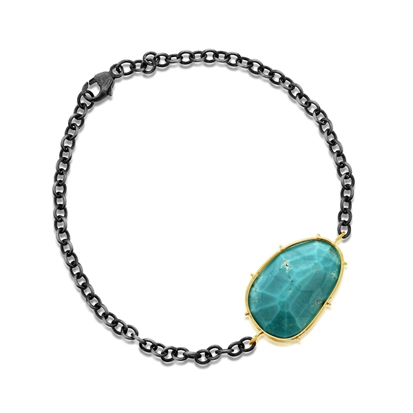 HEATHER B MOORE Turquoise Harriet & Diamond Bracelet photo