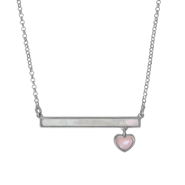 HONORA Children's Mother-of-Pearl Bar Necklace photo