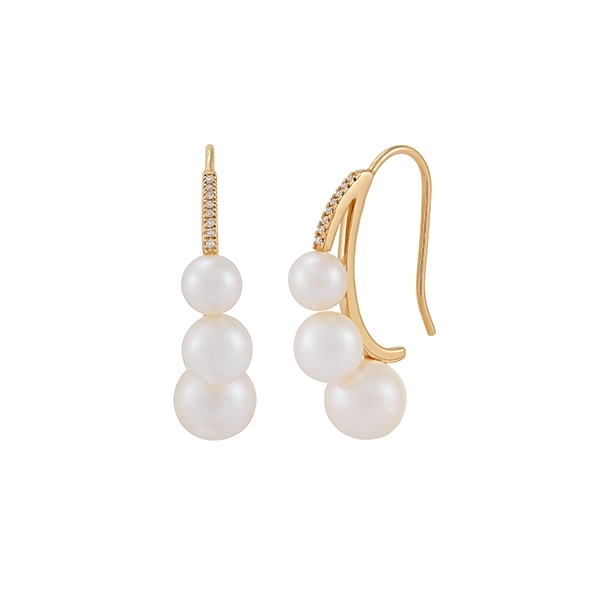 HONORA Pearl & Diamond Graduated Earrings photo