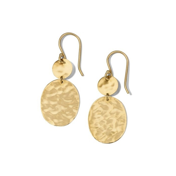 IPPOLITA Classico Crinkle Circle Oval Drop Earrings photo