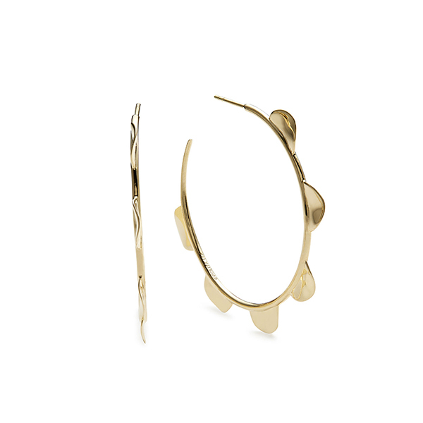Ippolita Clico Wavy Disc Hoop Earrings