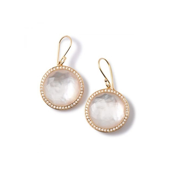 IPPOLITA Lollipop Mother-of-Pearl and Diamond Earrings photo
