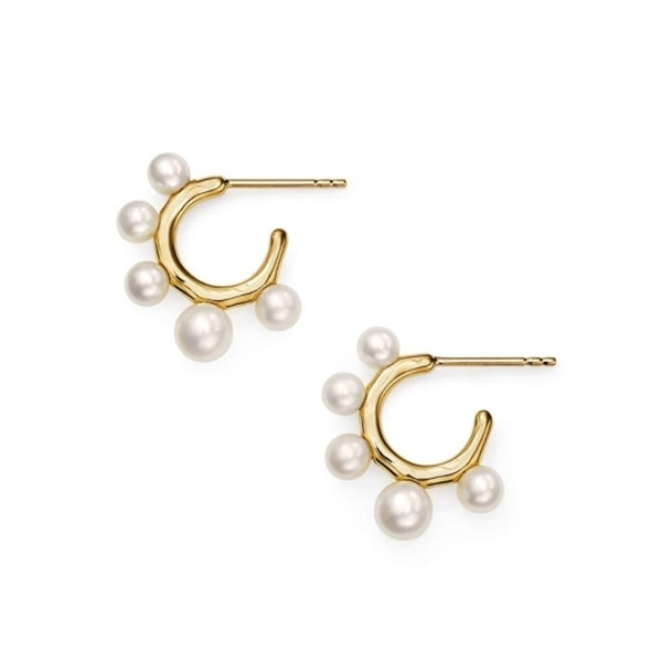 IPPOLITA Nova Hoop Earrings in Pearl photo