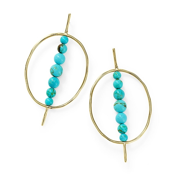 IPPOLITA Nova Oval Turquoise Earrings photo